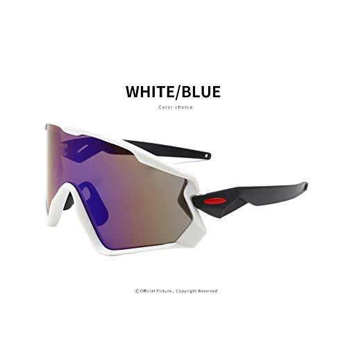 Cycling Glasses 2019 Mountain Bicycle Road Bike Sport Cycling Sunglasses Men Eyewear,White ()