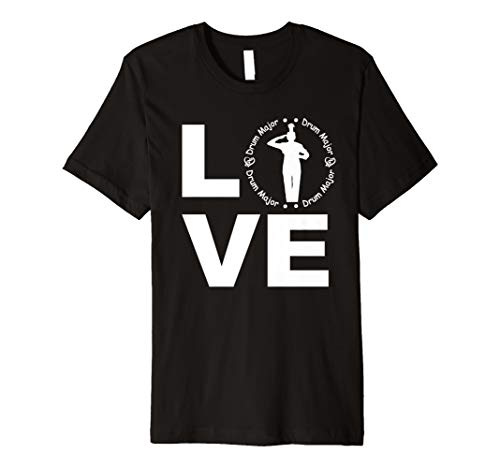 Love Drum Major T-Shirt Parent Player Marching Band ()