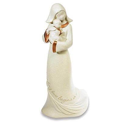 """Abbey Press Whispering Wings """"In a Mother's Arms"""" Figurine - New Inspirational Occasion Gift 55677HMK-ABBEY"""