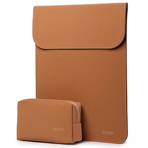 estuche + bolso para notebook 13 pulgadas marron HYZUO