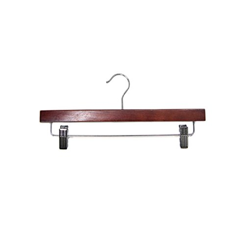 Newtech Display HWB-14/MH Pants/Skirt Wood Hanger, Mahogany (Pack of 100) by Newtech Display