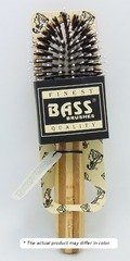 (Brush - Purse Size Oval Cushion 100% Wild Boar/White Nylon Bristles Light Wood Handle Bass Brushes 1 Brush)