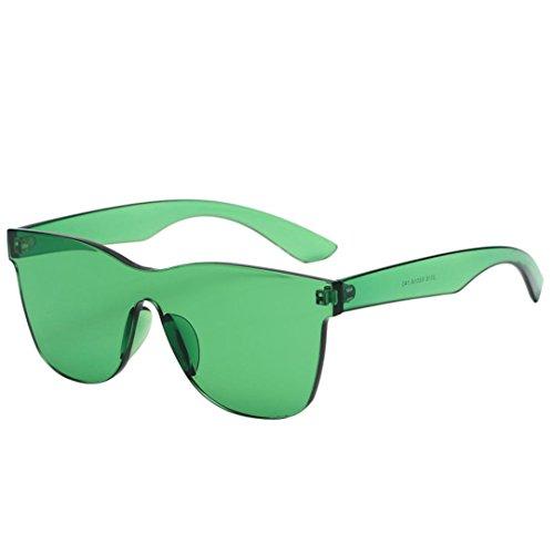 Malloom Quadrate Vert Femme UV de colorés Verres Lunettes soleil de bonbons intégrés Shades 7wxtIX