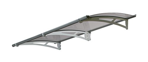 Palram Aquila 2050 Door Window Awning, 7 L x 3 W x 6.5 H – Gray Solar Gray