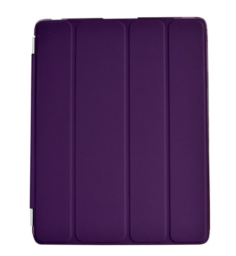 2 Ipad Case Cover (Smart Magnetic Cover for Apple iPad 2, iPad 3 and iPad 4 Auto sleep/Wake/Stand function (2in1 Purple, For iPad 2/3/4))
