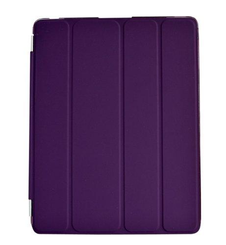 Smart Magnetic Cover for Apple iPad 2 , iPad 3 and iPad 4 Auto sleep /Wake / Stand function (2in1 Purple, For iPad 2/3/4)