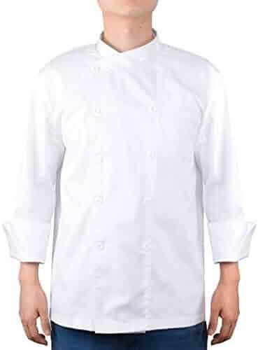 Homyl Professional Womens Men's Chef Jacket Coat Cafe Hotel Kitchen Work Short Sleeve Waiter Waitress Uniform M Kitchen Accessories 2XL