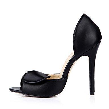 talón de el de de LFNLYX Sandalias Bowknot negro consuelo verano Black blanco noche y Boda de seda Stiletto mujeres traje RXFZFw