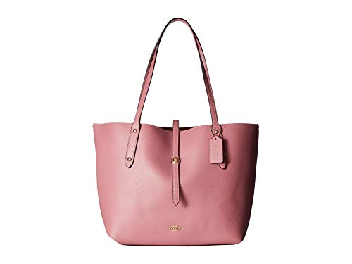 COACH Women's Polished Pebbled Leather Market Tote Li/Rose One Size