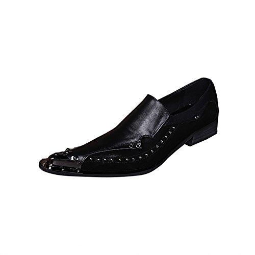 Jinfu Man Dagdrivare För Läder Tofflor Med Nit Brudklänning Shoes Lace-flats Skor