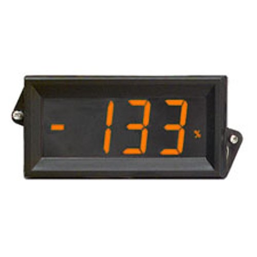 Open Source Meter OSMLP-807A Digital Panel Meter Amber Backlight 3 1/2 Digit LCD Display 4-20mA Loop Powered Eng Units °F °C PSI % Decimal Points 3 Position Adj Span and Offset Std 1/8 DIN Package (Powered Loop Meter)