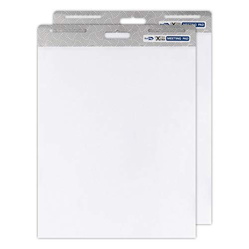 Redi-Tag Extra Xtra Easel Meeting Pad, Sticky Wall Pad/Easel Pad, Hang Vertical or Horizontal, White, 25