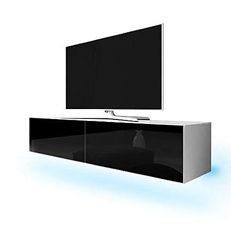 Tv Schrank Lowboard Hängeboard Simple Mit Led Blau Weiß Matt Schwarz Hochglanz 200 Cm