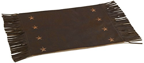 HiEnd Accents Laredo Western Placemat, 16 x 20, Chocolate, Set of 4 -