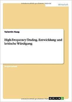 Book High-Frequency-Trading. Entwicklung und kritische Würdigung