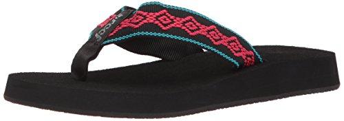Reef Women's Sandy Sandal,Black/Pink,8 M ()
