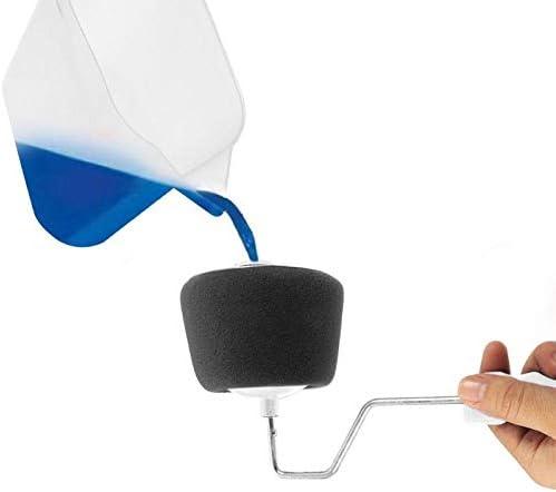8 unids//set DIY Paint roller Pro Juego de Herramientas de brochas de rodillo con mango de Edger de oficina para el hogar pintura de pared pintura de rodillo cepillo conjuntos