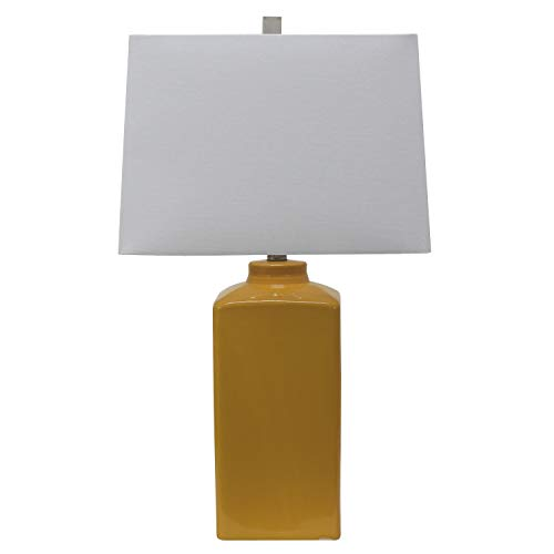 Yellow Ceramic Table Lamp - Decor Therapy TL17299 Table Lamp, Mustard Yellow