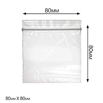 Bolsas de plástico transparente Ziplock, elige tu tamaño y ...