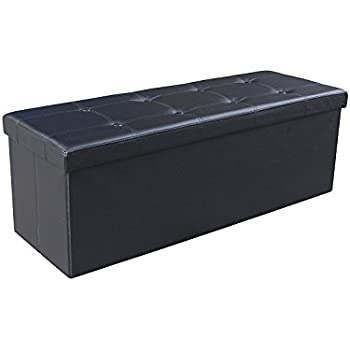Amazon Com 43 Quot Long Faux Leather Folding Storage Bin