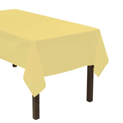 Heavy Duty Plastic Table Cover Available in 44 Colors, 54