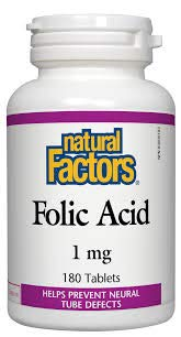 Tablets 30 Acid Folic (Folic Acid 1mg (180Tablets) Brand: Natural Factors)