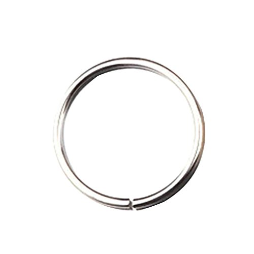 (Botrong® Stainless Steel Round Nose Ring Piercing Earring Stud Stud Nasal Septum (6mm, Silver))