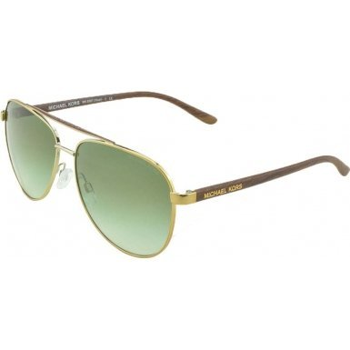Michael Kors HVAR MK5007 Sunglasses 10432L-59 - Gold Wood Frame, Green Gradient