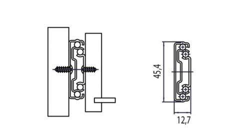Gu/ías de bolas H45 con cierre suave amortiguado caj/ón