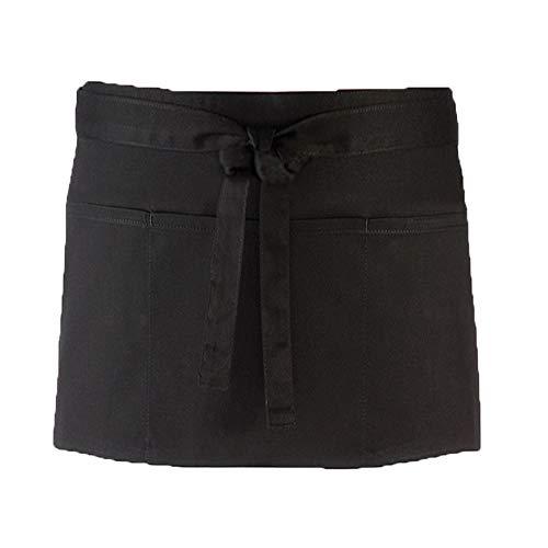 (Waitress Waiter Apron - Short Apron with 3 Pockets 24
