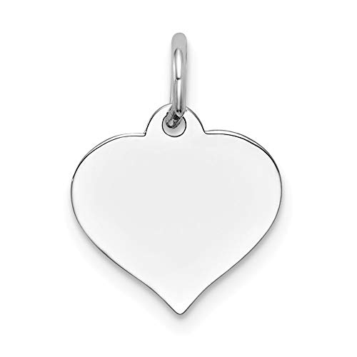 (14K White Gold Heart Disc Charm Pendant from Roy Rose Jewelry)