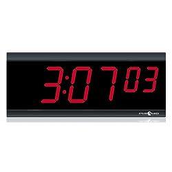 6 Digit Red POE Digital Clock
