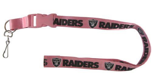 Caseys Distribution 5717525056 Oakland Raiders cordon Breakaway avec Key Ring-Rose