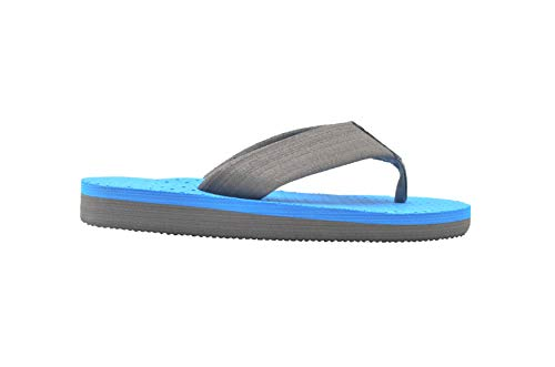 Gold Toe Boys Flip Flops 13-1 M US Little Kid Thong Sandal with Textured Footbed Grey/Blue