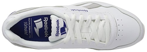 Reebok Herren Royal Glide Clip 2 Sneaker Weiß (White/Solid Grey/Collegiate Royal)