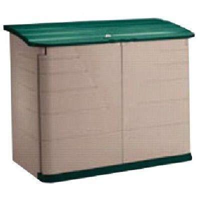 Rubbermaid Outdoor Horizontal Storage Shed, Large, 32 cu. ft., Olive/Sandstone (FG374701OLVSS)