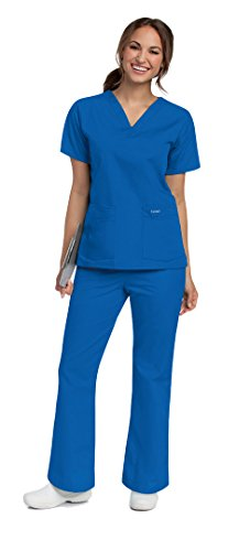 Landau V-Neck Two Pocket Scrub Top PT8219 X-Large Nautical (Landau 2 Pocket)