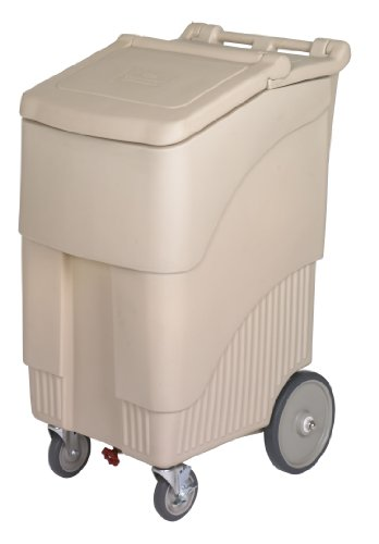 Continental 9720BE, Beige 200 lbs. Capacity ConServ Mobile Ice Bin (Case of 1)