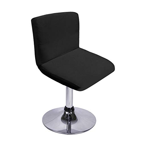 BTSKY New Bar Stools Slipcovers with Backrest Cover Stretch Chair Cover for Short Swivel Dinning Chair Back Chair Bar Stool Chair Black