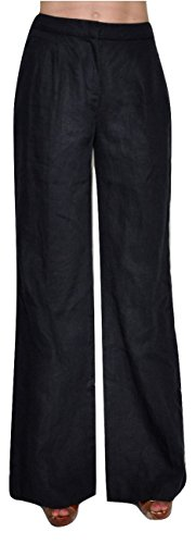 Michael Michael Kors Womens Linen Pant (MICHAEL Michael Kors Women's Linen Wide-Leg Pants Trousers, New Navy, 2)