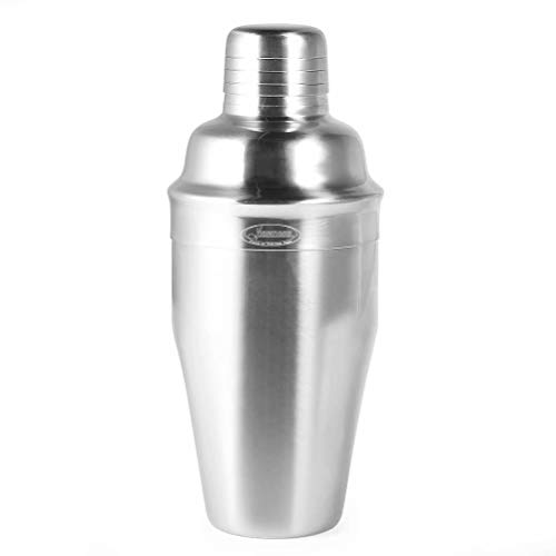 304 Stainless Steel Top - Newness Cocktail Shaker, 304 Stainless Steel Wine Shaker with Strainer and Lid Top, Martini Shaker Bartender Kit for Bar & Home, 18 OZ (550 ML), Silver