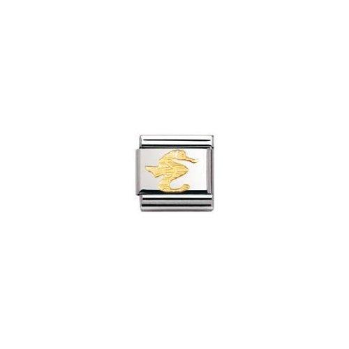 Nomination 030113 - Maillon pour bracelet composable Mixte - Acier inoxydable et Or jaune 18 cts