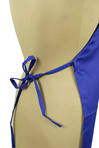 Tessa's Kitchen Kids - Child's Chef Hat Apron Set, Kid's Size, Children's Kitchen Cooking and Baking Wear Kit for Those Chefs in Training (M 6-12 Year, Blue) by Odelia (Image #3)
