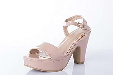 Shoexpress Dress Sandal For Women,Heels,Pink