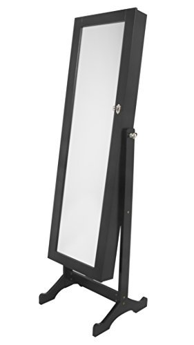 Innovex Home Products Vienna Mirrored Jewelry Armoire, Black
