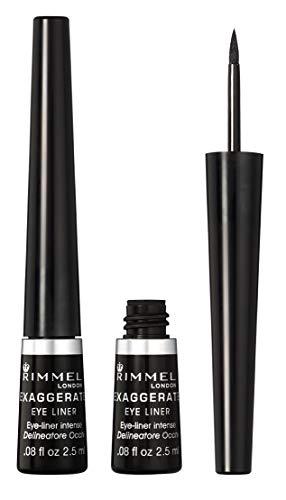 Rimmel Exaggerate Felt Tip Eye Liner, Black – Easy Precise Application Long Lasting Felt Tip Liquid Eye Liner Pen