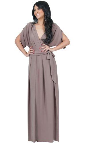 a500aafa01f Koh Koh Women s Elegant Designer Batwing Dolman Sleeve Maxi Dress ...