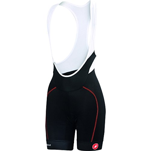 Castelli 2019 Women's Velocissima Bib Cycling Short - L15046 (Black/red - S) by Castelli (Image #2)