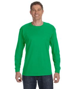 - Gildan Mens 5.3 oz. Heavy Cotton Long-Sleeve T-Shirt G540 -IRISH GREEN M