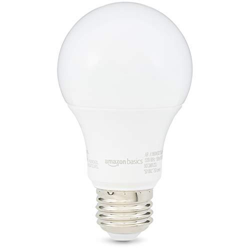 AmazonBasics 60 Watt 10,000 Hours Non-Dimmable 750 Lumens LED Light Bulb - Pack of 6, Soft White